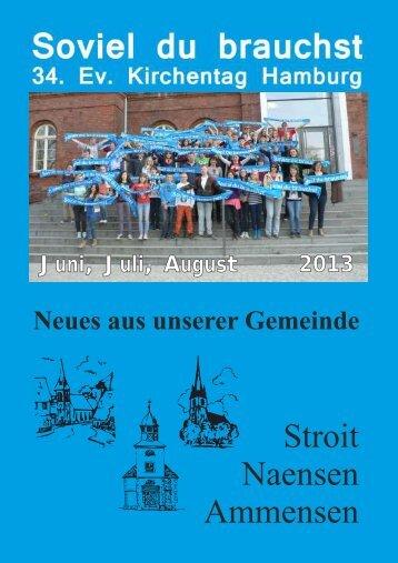 Ausgabe Juni - August 2013 - Pfarrverband Naensen