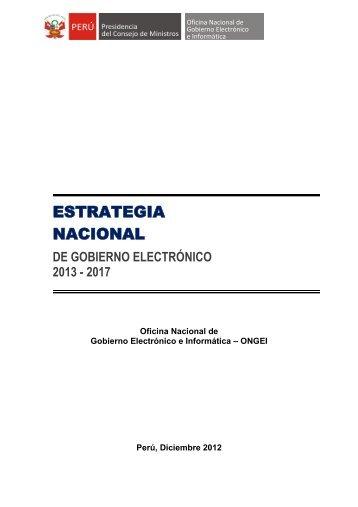 ESTRATEGIA NACIONAL - Portal del Estado Peruano