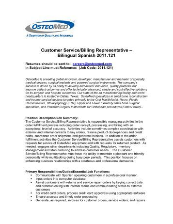 bilingual customer service representative scottsdale