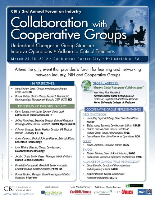 collaboration with cooperative groups - CBI