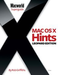 Macworld Mac OS X Hints Superguide, Leopard ... - Take Control