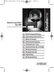 Sensor-Leuchten Typ 400 - Karl H Ström