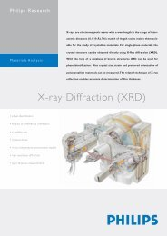 X-ray Diffraction (XRD) - Philips Research