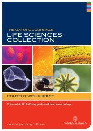 life sciences cOllecTiOn - Oxford Journals