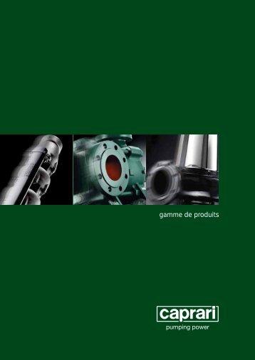 gamme de produits - Caprari