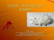 Crystal- psychische Schäden und Wirkungen - Landkreis Zwickau