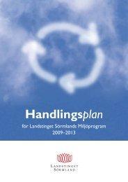 Handlingsplan - Landstinget Sörmland