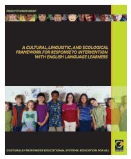 A Cultural, Linguistic, and Ecological Framework for ... - NCCRESt