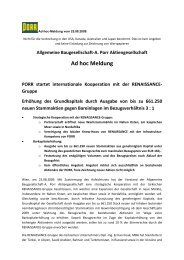 Ad hoc Meldung - PORR AG