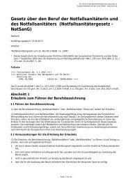 NotSanG - Gesetze im Internet