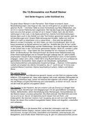 Die 12-Sinneslehre von Rudolf Steiner 2008 - Schloessli Ins
