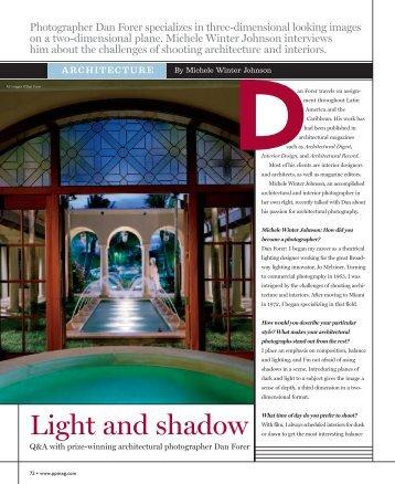 Light and shadow - Professional Photographer Magazine