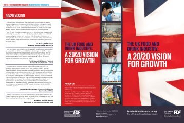 a 20/20vision For growTh - Food and Drink Federation