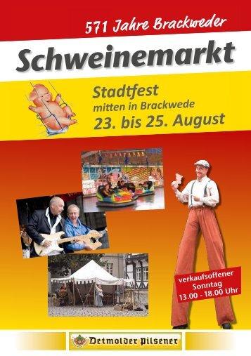 Stadtfest 23. bis 25. August - funfair - area