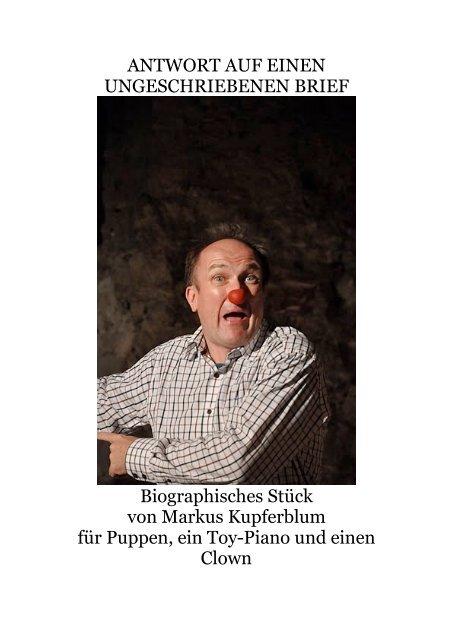 ANTWORT AUF EINEN UNGESCHRIEBENEN BRIEF ...
