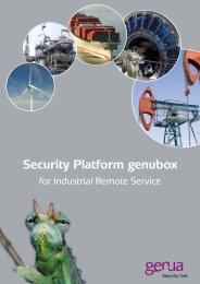 Security Platform genubox, Salesfolder - GeNUA