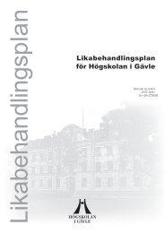 Likabehandlingsplan för Högskolan i Gävle