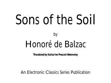 Sons of the Soil - Penn State University