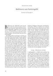 Bokhistoria som forskningsfält - Kungliga biblioteket