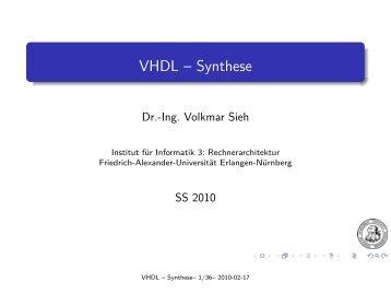 Synthese - Friedrich-Alexander-Universität Erlangen-Nürnberg