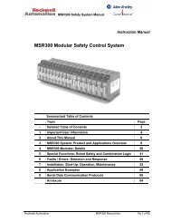 MSR300 Modular Safety Control System Installation Instructions