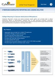 CYBEROAM AGGREGATED REPORTING AND LOGGING SOLUTION