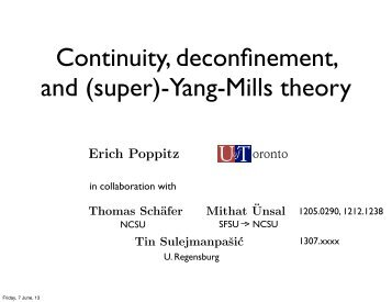 Continuity, deconfinement and (super) Yang-Mills theory