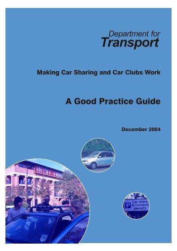 Good Practice Guide - Richard Armitage Transport Consultancy ...
