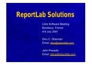 ReportLab Solutions