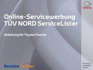 Anleitung für Toyota Partner (PDF) - ServiceLister