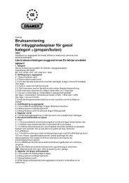 CRAMER EK2000 Bruksanvisning.pdf - KAMA Fritid