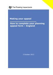 Making your appeal How to complete your ... - Planning Portal
