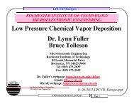 Low Pressure Chemical Vapor Deposition Dr. Lynn Fuller Bruce ...