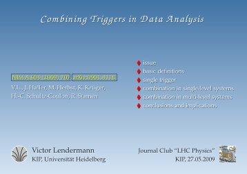 Combining Triggers in Data Analysis