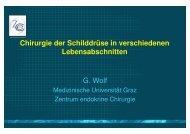 Chirurgie der Schilddrüse in verschiedenen Lebensabschnitten G ...