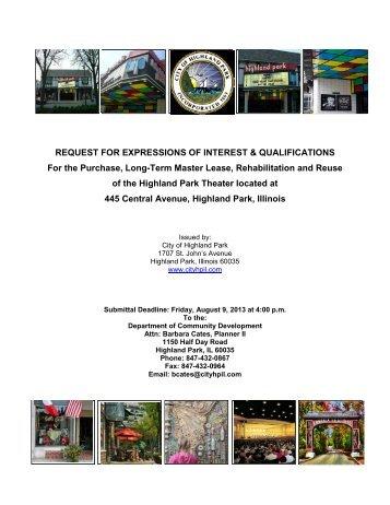 RFIQ Document - Highland Park, IL - Official Website