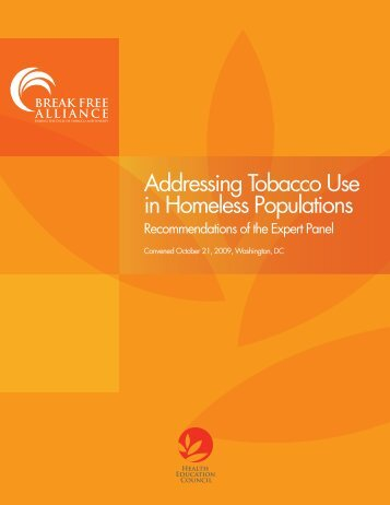 Addressing Tobacco Use in Homeless Populations - Health ...