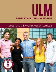 Undergraduate Catalog - University of Louisiana at Monroe