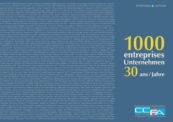 30 années, 1000 entreprises 30 Jahre, 1000 Unternehmen - CCFA