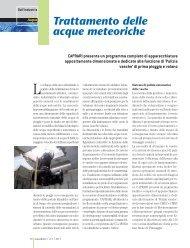 Trattamento delle acque meteoriche CAPRARI presenta un ...