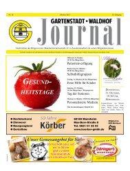 Gartenstadt Waldhof Journal Oktober 2013_Teil 1 - Bürgerverein ...