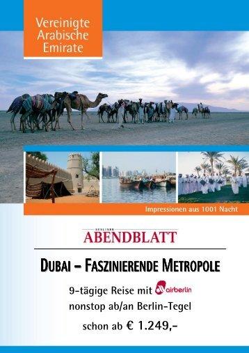 dubai – faszinierende metropole - Leserreisen - Berliner Abendblatt