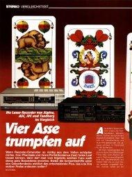 Stereo 11/1983 Test Vier Asse trumpfen auf, Die ... - NEW HiFi-Classic