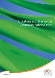 Creating a Stakeholder Communications Plan - Sport New Zealand