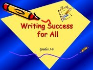 To Plant Seeds for Persuasive Writing - School District U-46