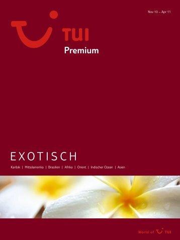 TUI - Premium: Exotisch - Winter 2010/2011 - tui.com - Onlinekatalog