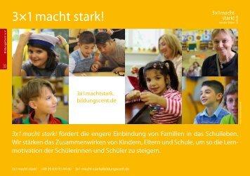 3x1 macht stark - Jugendsozialarbeit an Berliner Schulen