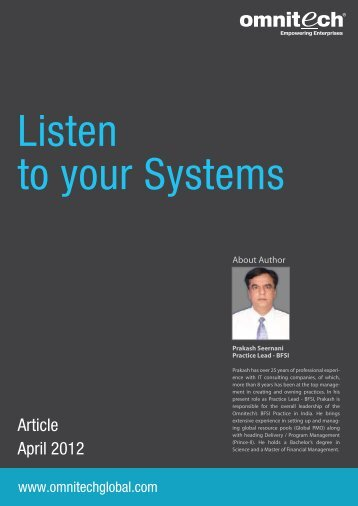 Listen to your Systems - Omnitechglobal.com