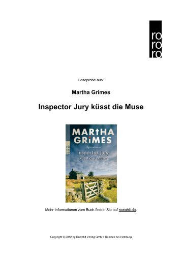 Inspector Jury küsst die Muse - Rowohlt Theaterverlag
