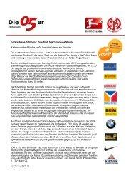 (Microsoft PowerPoint - Presseinfo Mainz 05 Vorlage ... - Coface Arena